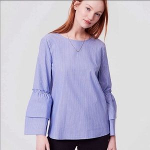 Loft Bell-Sleeved Blouse